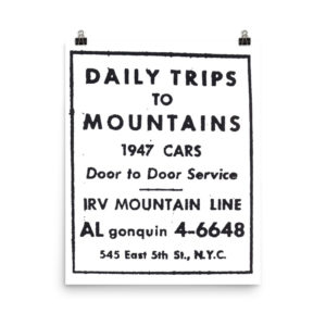 DAILY TRIPS TO MOUNTAINS 1947 CARS